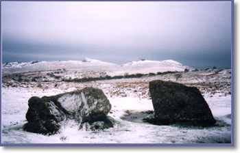 Harsh conditions on Dartmoor in January