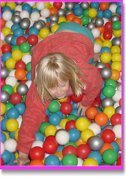 Jenny in the ball pool